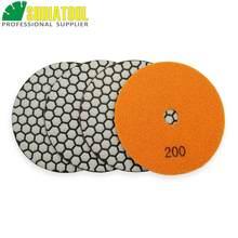SHDIATOOL 4 sztuk 125mm #200 suche szlifierka szlifierka szlifierka granitu marmuru płytki ceramiczne diament obligacji żywicy elastyczne podkładki polerskie polerka