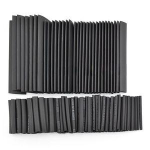 127 szt. Czarny klej odporny na warunki atmosferyczne koszulki termokurczliwe zestaw asortymentowy