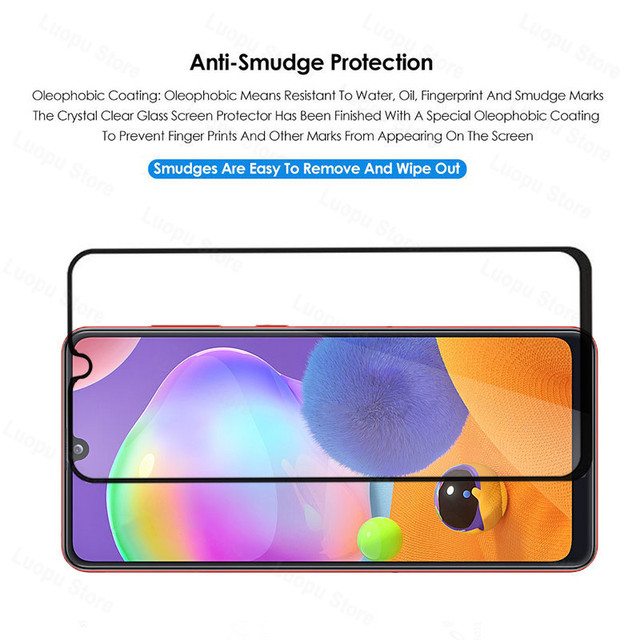 tempered glass for samsung galaxy a21 a31 a41 a21s a 31 a12 a42 a02 glass camera lens screen protector for sasmung a31 a41 a42 6