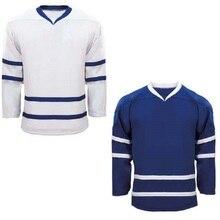 Пустая футболка для хоккея с шайбой, футболка с длинным рукавом и логотипом на заказ для детей и взрослых
