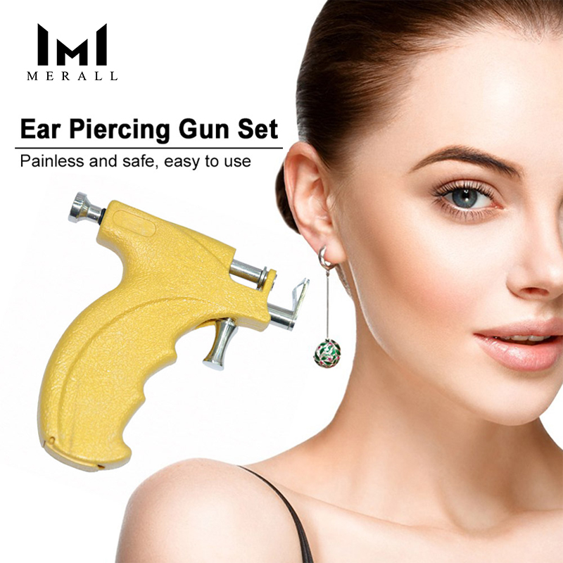 Ear Piercer Gun Set Safety Ear Nose Navel Body Piercing Gun Kit Set Ear Piercing Tool Ear Care Piercing Tools Drop Shipping