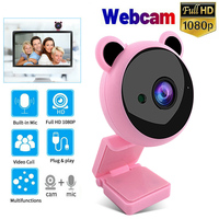 Webcam Volle HD 1080P Mini Nette USB Web Kamera mit Mikrofon Autofokus Computer Web Cam für Live-übertragung video PC Laptop