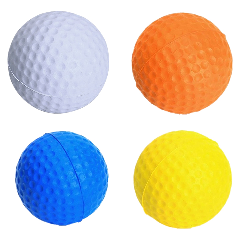 TOP!-4 Pcs Golf Ball Golf Training Soft Softballs Practice Balls White, Blue, Orange, Yellow
