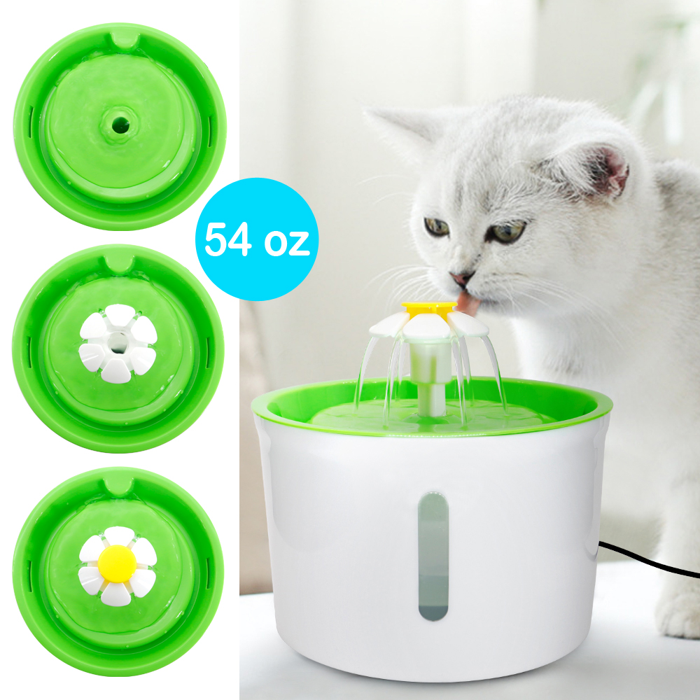 1.6L Automatic Cat Dog Water Fountain LED Electric Pet Drinking Feeder Bowl USB Mute Dog Cat Water Dispenser Pets Drinker Feeder