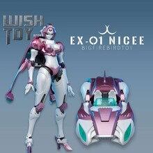 Transformação robô brinquedo nicee arcee ex01 ex-01 grande firebird rouge figura de ação coleção brinquedos dia das bruxas presente de aniversário caixa