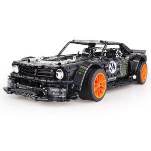 Image 4 - In Lager Technik Series Super Racing Auto RC Ford Mustang Hoonicorn RTR V2 Bausteine Ziegel Spielzeug für Kinder Geschenke