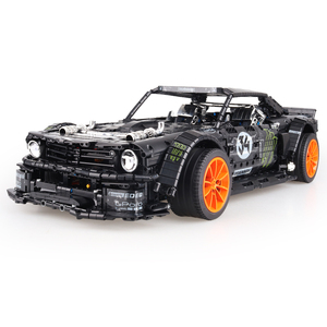 Image 4 - In Stock Technic Series Super Racing Car RC Ford Mustang Hoonicorn RTR V2 Building Blocks Bricks Toy for Children Gifts