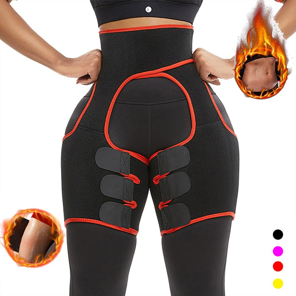 Yumdo Neoprene Sweat Body Shaper Legs Shaper Slimming Control Fat Shapewear Women's Support Belt Legs Slimmer Reduce Wraps