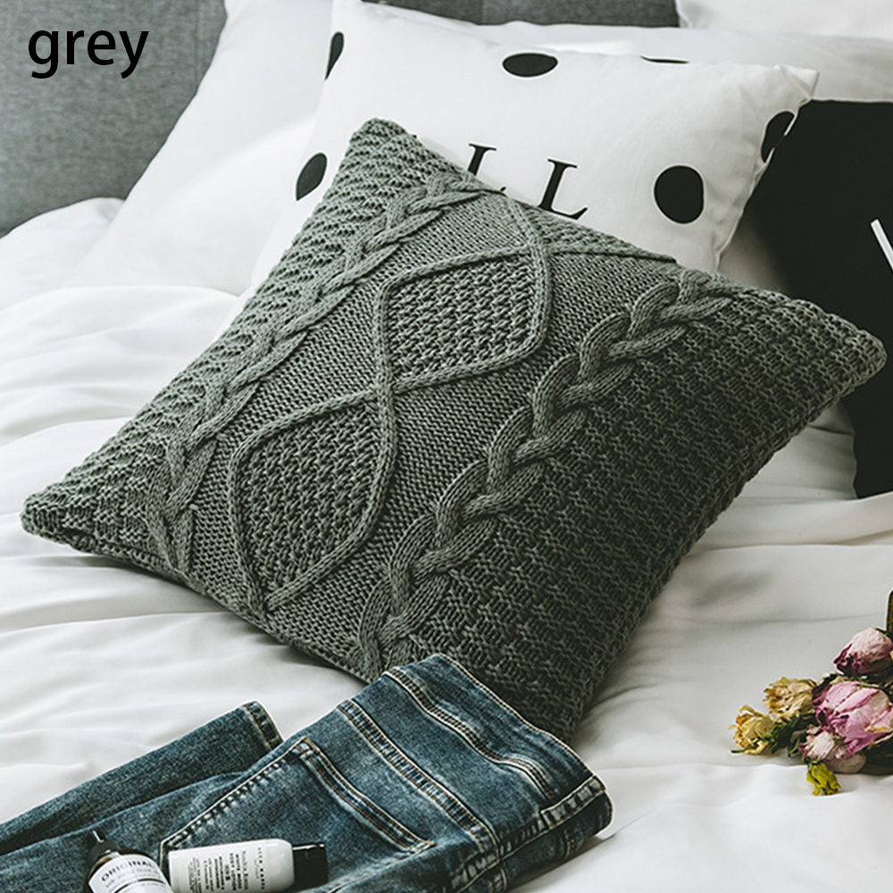 Nordic Knitted Pillow Cover Cushion Cover Pillowcase Home Soft Decor Coreless Pillow Cushion Cover Car Decor Photography Props