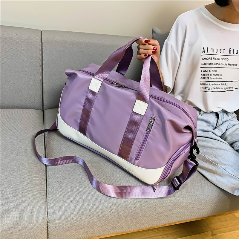 Women Waterproof Oxford Travel Bags Dry Wet Separation Sport Gym Handbag With Shoes Pockets Large Capacity Luggage Bags XA317F