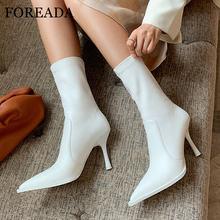 Foreada/женские ботинки из натуральной кожи; Ботинки до середины