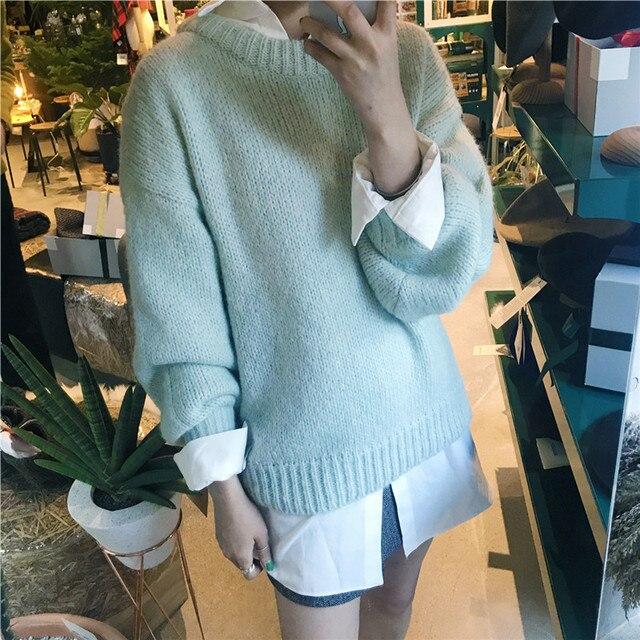 Ladies Chunky Round Neck Sweater 5