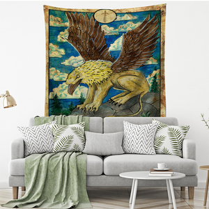Image 4 - Tarot Card Old Vintage Tapestry Witchcraft Astrology Star Moon Goddess Sea Nymph Mermaid Bed Decoration Blanket Wall Cloth