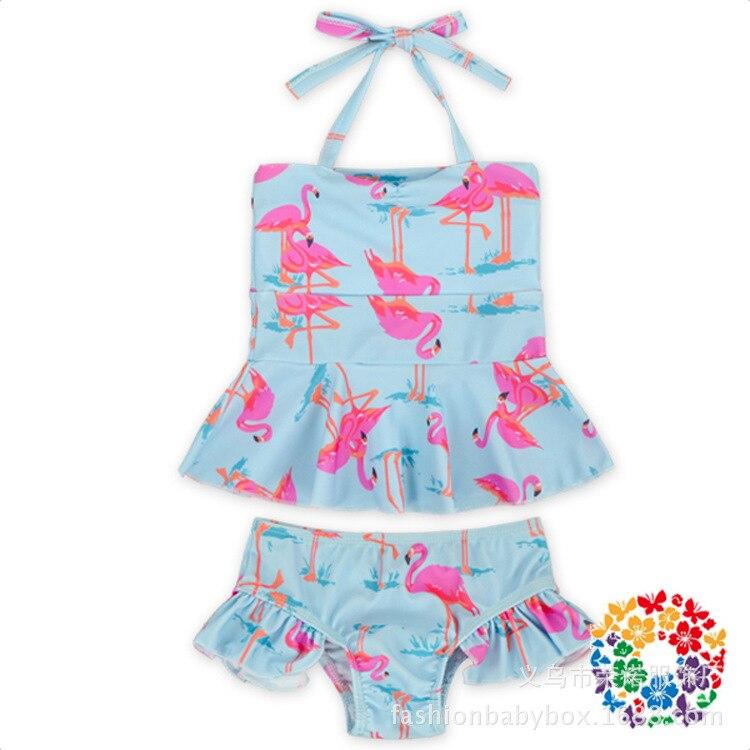 New Style Flamingo Bathing Suit Bikini Baby Swimsuit Female Baby Tour Bathing Suit Cute Girls Split Type Swimwear