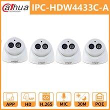 Камера видеонаблюдения Dahua 4MP DH, сетевая ip камера с поддержкой сети 4433C A, встроенный микрофон Onvif, с POE, заменяемая камера для домашнего использования, для использования в помещении и на улице, с функцией POE, IP, для использования в помещении и на улице