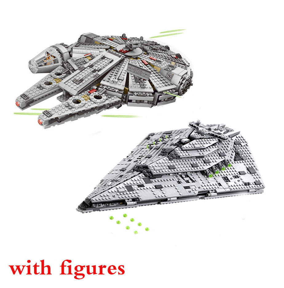 NEW 1381Pcs OLEKU Millennium Compatible Lepines Star Wars Set Bricks Models & Building Blocks Toys For Children Starwars