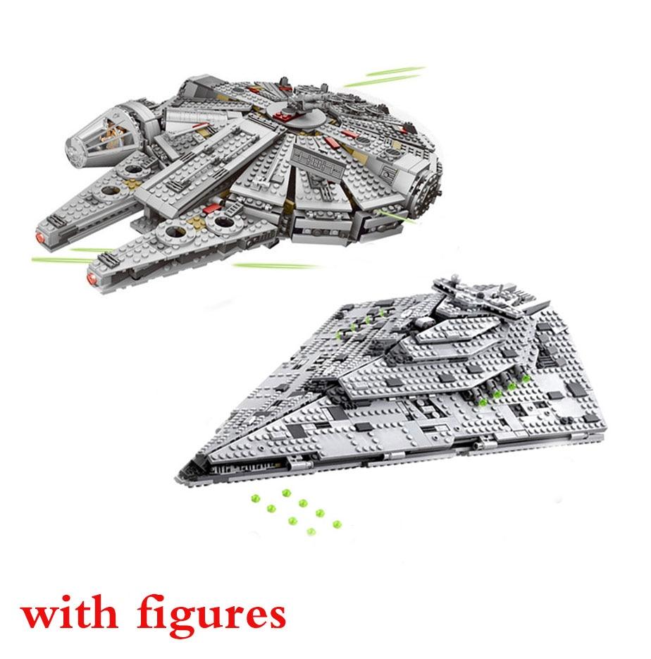 NEW 1381Pcs OLEKU Millennium Compatible Lepines Star Wars Set Bricks Models & Building Blocks Toys For Children Starwars