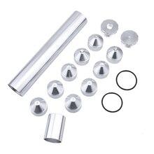 """1/2 28 5/8 24 Solvent tuzak konuları yakit filtresi 13 adet 10 """"uzunluk 1.7"""" OD 1.5 """"ID NAPA 4003/ WIX 24003, siyah ve gümüş"""