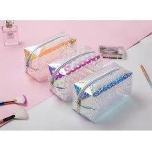 Storage Dropshipping Cheap Travel Women Cosmetic Bag Transparent Dots Organizer Lovely Fashion Make Up Bag Mini Cute Jelly bag