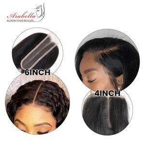 Image 4 - 2x6 Kim k Körper Welle Spitze Schließung Schließung Brasilianischen Arabella Remy Menschenhaar Spitze Verschluss Tiefe Mittelteil Teil mit Baby Haar