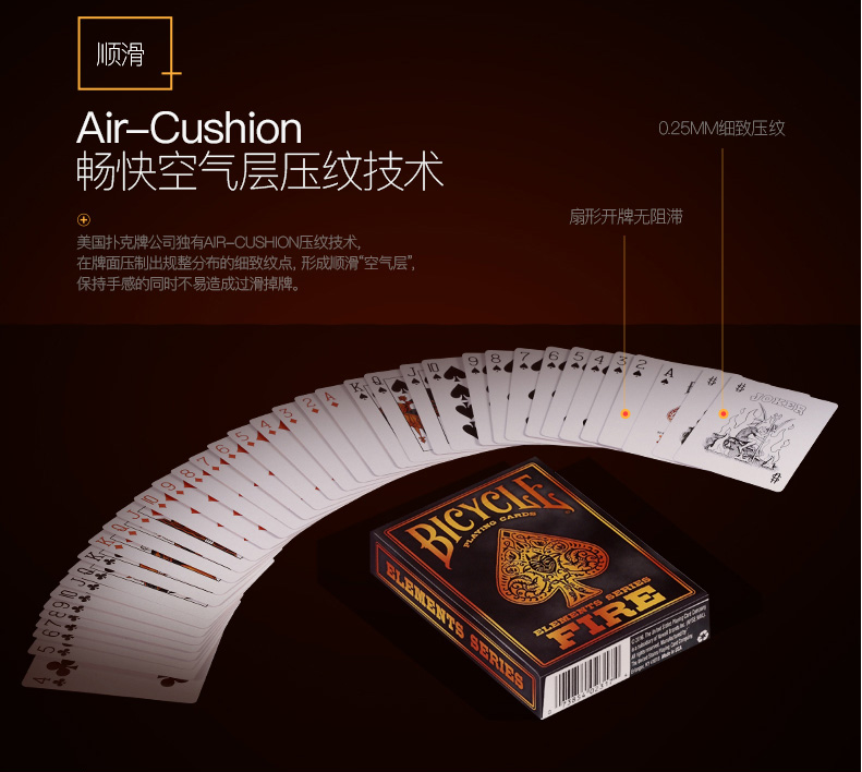 Fire Elements Series Bicycle Playing Cards Deck Brand New Sealed