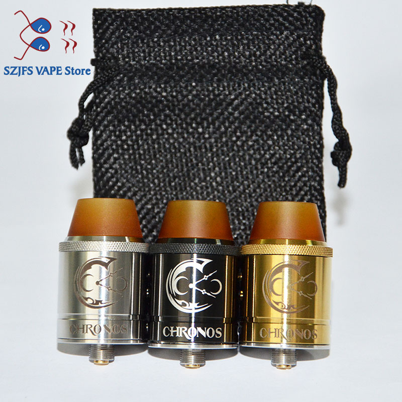 Electronic Cigarette CHRONOS <font><b>RDA</b></font> Atomizer <font><b>22mm</b></font> diameter 304 stainless steel for 510 vs 528 <font><b>GOON</b></font> GEN 25 RDAQP Design KALI V2 <font><b>RDA</b></font> image