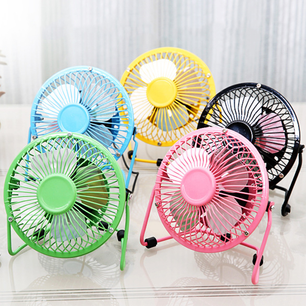 Mini Fan Mini USB Desk Fan with Rechargeable 2000mAH Battery and USB Cable Auto 3 Speeds 360 Up and Down for Home and Oudoor Color : Pink, Size : Free Size