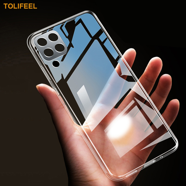 Case For Samsung Galaxy A12 TPU Silicone Clear Bumper Soft Case For Samsung A12 M12 Transparent Phone Back Cover 1