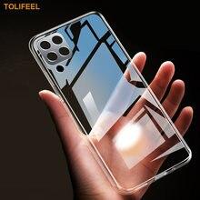Чехол для Samsung Galaxy A12, силиконовый прозрачный бампер из ТПУ, мягкий чехол для Samsung A12 M12, прозрачная задняя крышка для телефона