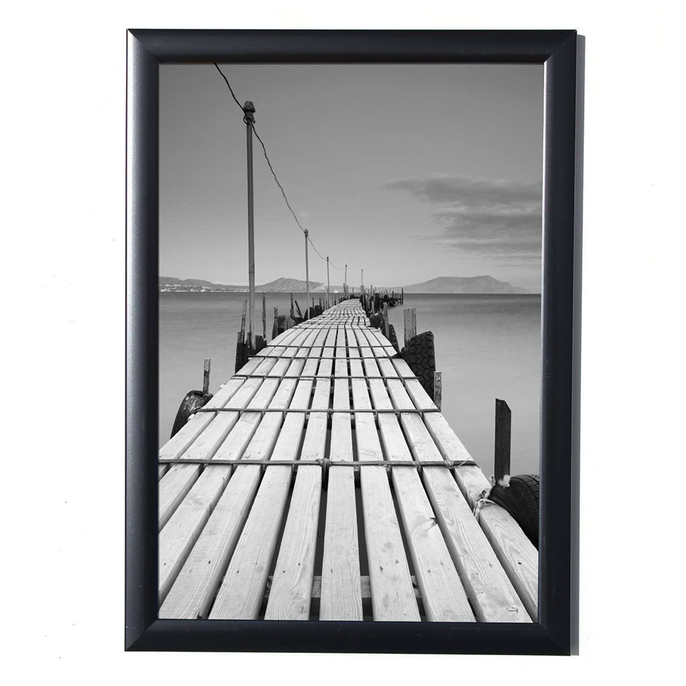 21*29.7 CM Black Simulation Wood Table Wall Photo Frame Hardboard Back With Glass For A4 Photos Picture Certificates Album Decor