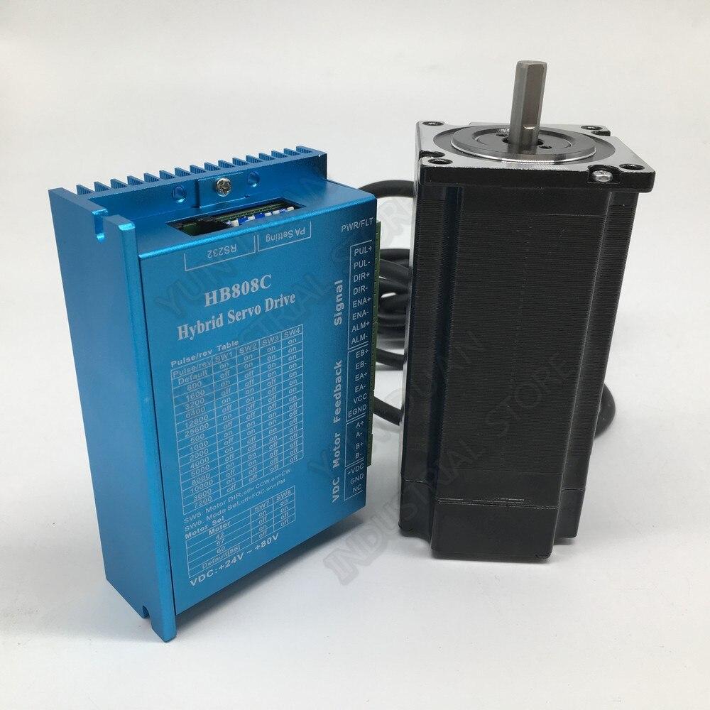 3Nm Nema23 57MM haute vitesse de couple 1000 tr/min DC DSP en boucle fermée moteur pas à pas Kits Hybird encodeur facile pas à pas Servo pour routeur - 2