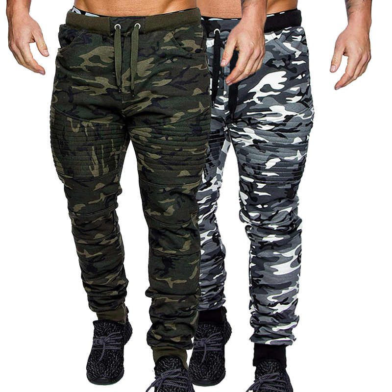 Mens Military Trousers Camouflage Camo Army Jogger Sport Tracksuit Bottoms Pants