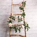 2 м украшение для дома, украшение на стену, украшение для свадебного стола, вечерние украшения, искусственные розовые цветы, гирлянда, искусс...