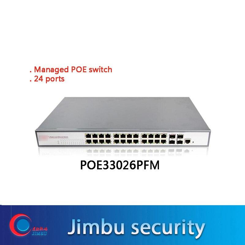 400W Managed POE Switch 24 Port With 4 SFP Uplink 10/100/1000M Gigabit PoE Ethernet Switch POE33026PFM