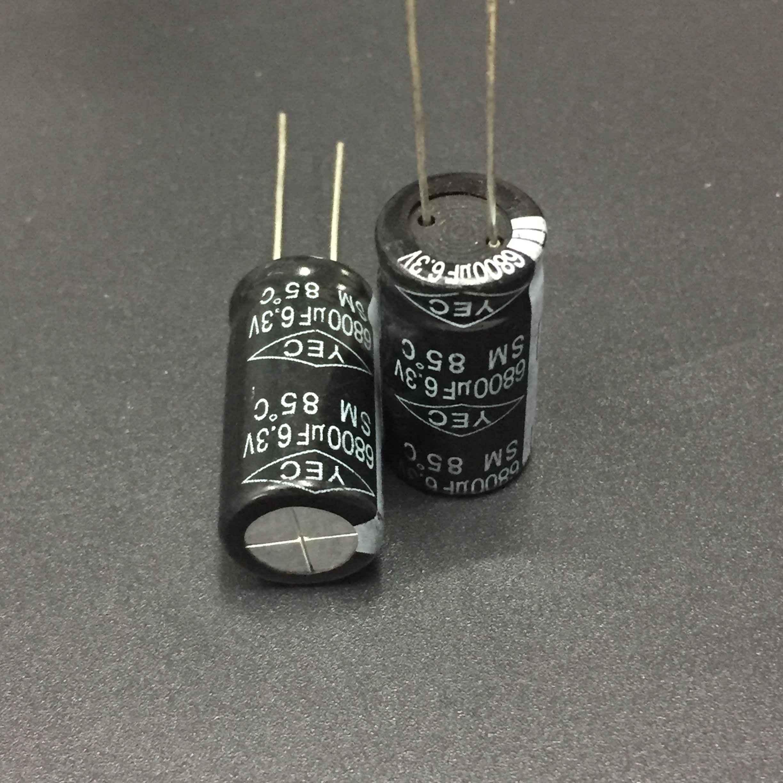 5 шт./50 шт. 6800 мкФ 6,3 в Тайвань IEC SM серии 12,5x25 мм 6.3V6800uF алюминиевый электролитический конденсатор