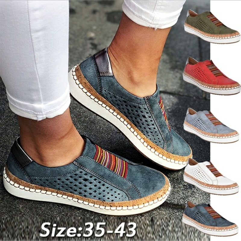KAMUCC Puimentiua Sneakers Women Vulcanize Shoes Casual Breathable Shoes Female Soft Leather Flats Ladies Sneakers Size 35-43
