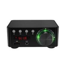 50 ワット × 2 ミニクラス D ステレオ Bluetooth 5.0 アンプ TPA3116 TF 3.5 ミリメートル USB 入力ハイファイオーディオホームアンプモバイル/コンピュータ/ラップトップ