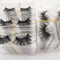 Buzzme Wholesale 100 Pairs 29 Styles free shipping Eyelashes natural 3D faux mink eyelashes fake lashes long makeup extension