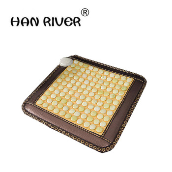 The new comfortable massage cushion jade pillow electric pad germanium stone ms tomalin care office padded 45 * 45 cm
