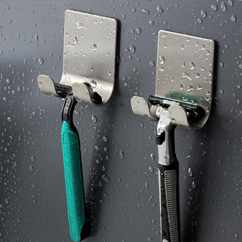 Hook Punch Free Razor Holder Razor Shelf Storage Rack Shaver Organizer