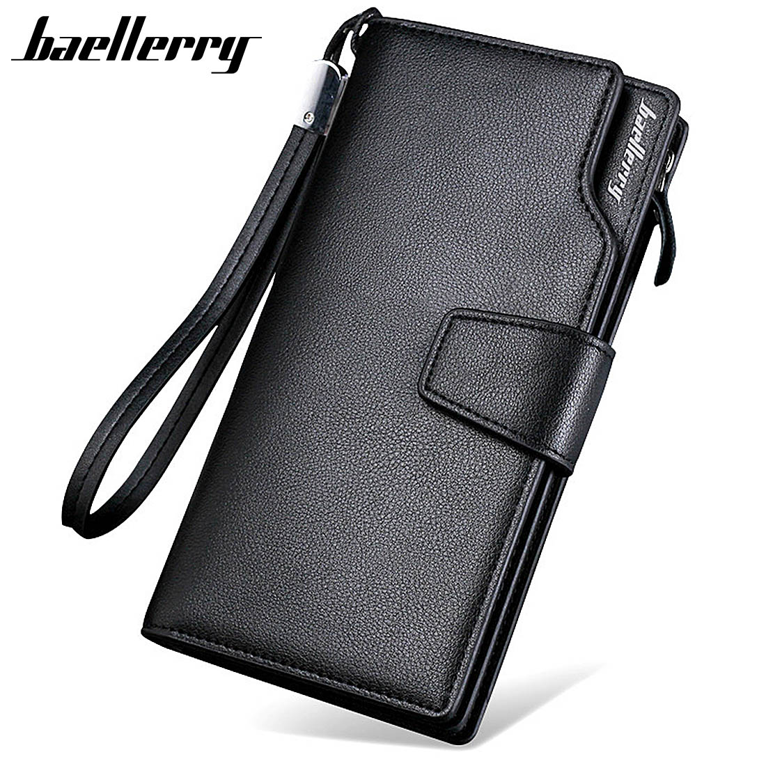 Baellerry Male Purse Wallets Card-Holder Zipper Long-Style Large-Capacity High-Quality