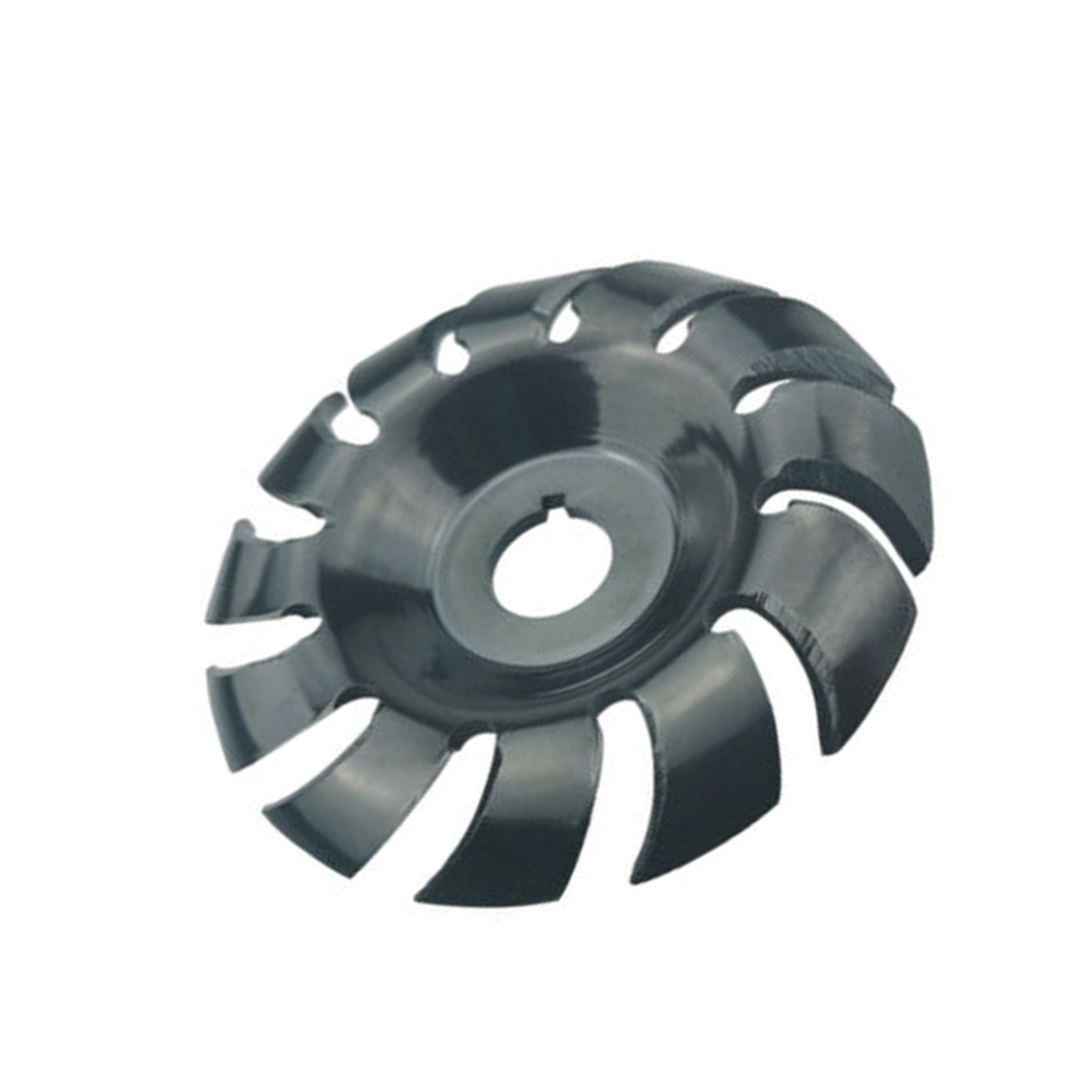 Woodworking Milling Cutter Disc Carving Engraving 12-teeth Aperture Shaping Steel Alloy 90mm Wheel Abrasive Tool