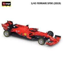 Bburago Diecast – voiture Ferrari F1 en métal, modèle de voiture de course, Formule 1 SF70H & 71H & 90, jouet de Collection, 1:43, 2019