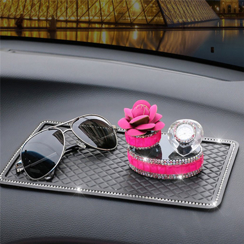 Car Anti Slip Mats Black Auto Dashboard Sticky Anti-skid Pads Phone MP3 GPS Sunglasses Keys Holder Mount Bracket Gadgets Styling Karachi
