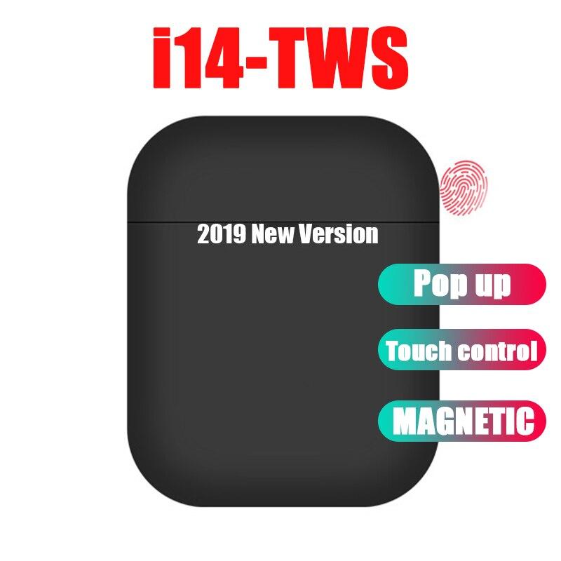 I14 tws mini fone de ouvido sem fio bluetooth 5.0 fones de ouvido de controle toque fones de ouvido esporte audifonos para celular elari