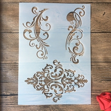 A4 29 * 21cm Rose DIY Stencils Wall Painting Scrapbook Coloring Embossing Album Decorative Paper Card Template,fabric, wall