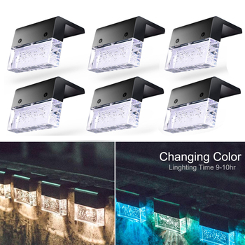 Color Changing Solar Deck & Fence Lamp Deck / Fence / Path Lights