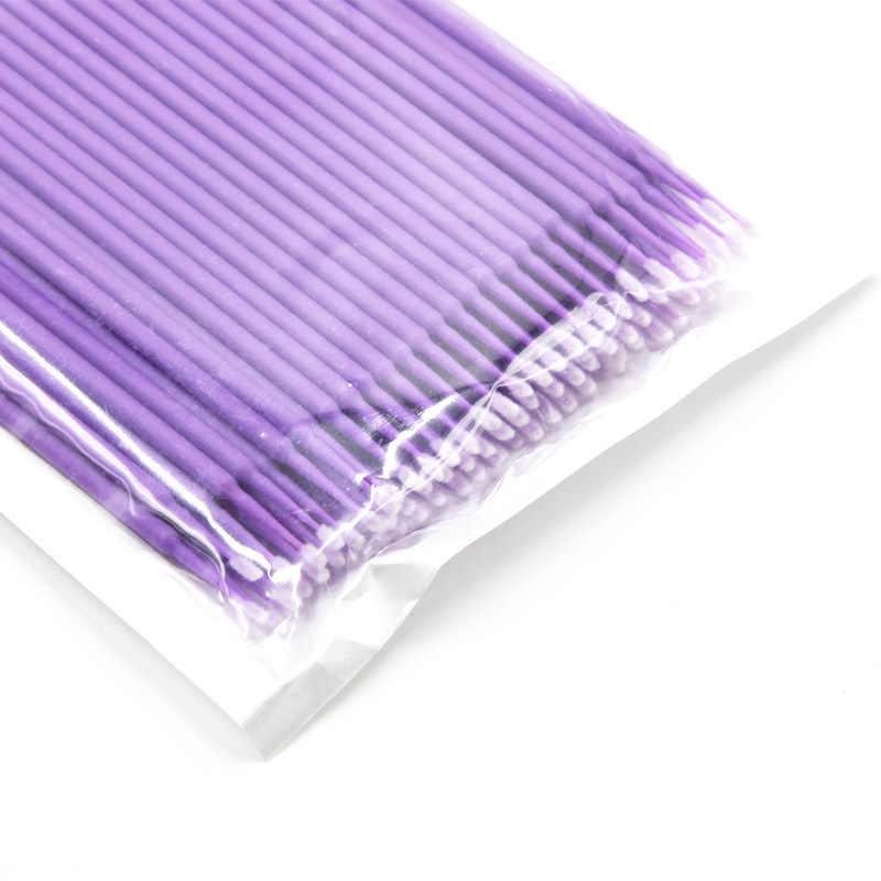 100 قطعة/الحزمة مايكرو فرش مسحة Microblading الوبر الحرة المتاح رمش نظافة الوشم اللوازم الدائمة الوشم الملحقات