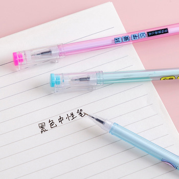 1pc Transparent Rod Creative PA Learn God Buzzwords Pen Black Student Stationery Pen Wholesale image