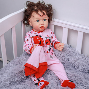 20 inches Full Silicone Body Reborn Baby Doll with Teeth Toy 51cm Newborn Princess Babies Toddler Bebe Boneca Bathe Toy Kid Gift